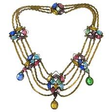 Stunning Art Deco Festoon Necklace