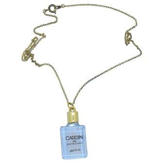 Cardin Perfume Bottle Necklace