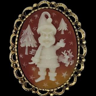 Santa Claus Cameo Pin