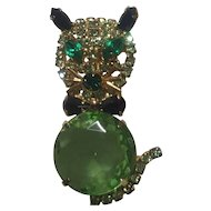 Cool Green Kitty Pin