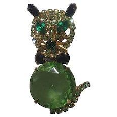 Cool Green Kitty Pin
