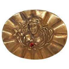 Art Noveau Woman Pin