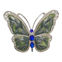 Green & Blue Butterfly Pin