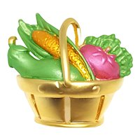 Lovely Basket of Vegetables Pin