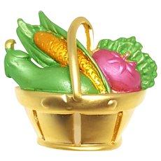 Lovely Basket of Vegetables Pin