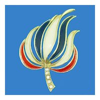 Victory Red White and Blue Torch Pin