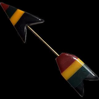Philadelphia Bakelite Arrow Pin