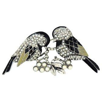 Darling Lovebirds Pin