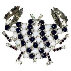 Black & White Crab Figural Pin