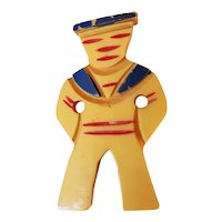 1930's Bakelite Sailor Boy Pin