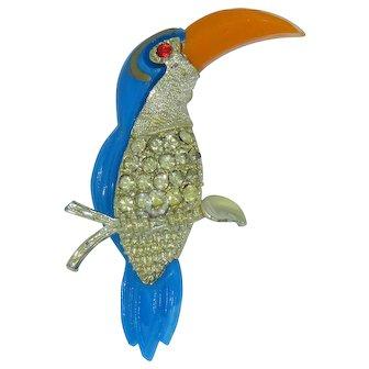 Pretty Parrot Pin