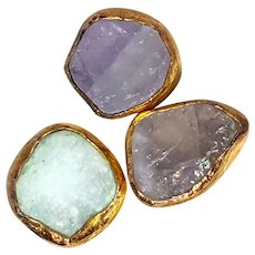 Amazing Druzy Quartz Rocks Ring