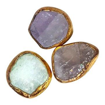 Amazing Druzy Quartz Rocks Ring