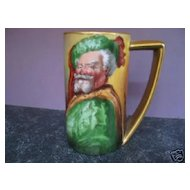 "Fabulous 1900's Hand Painted ""Falstaff"" 6"" Portrait Tankard by Pickard Artist ""HEINZ"""