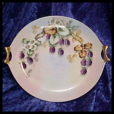 "Fabulous HP 1900 ""Blackberry"" 12"" Plate by Poole Studios - Red Tag Sale Item"