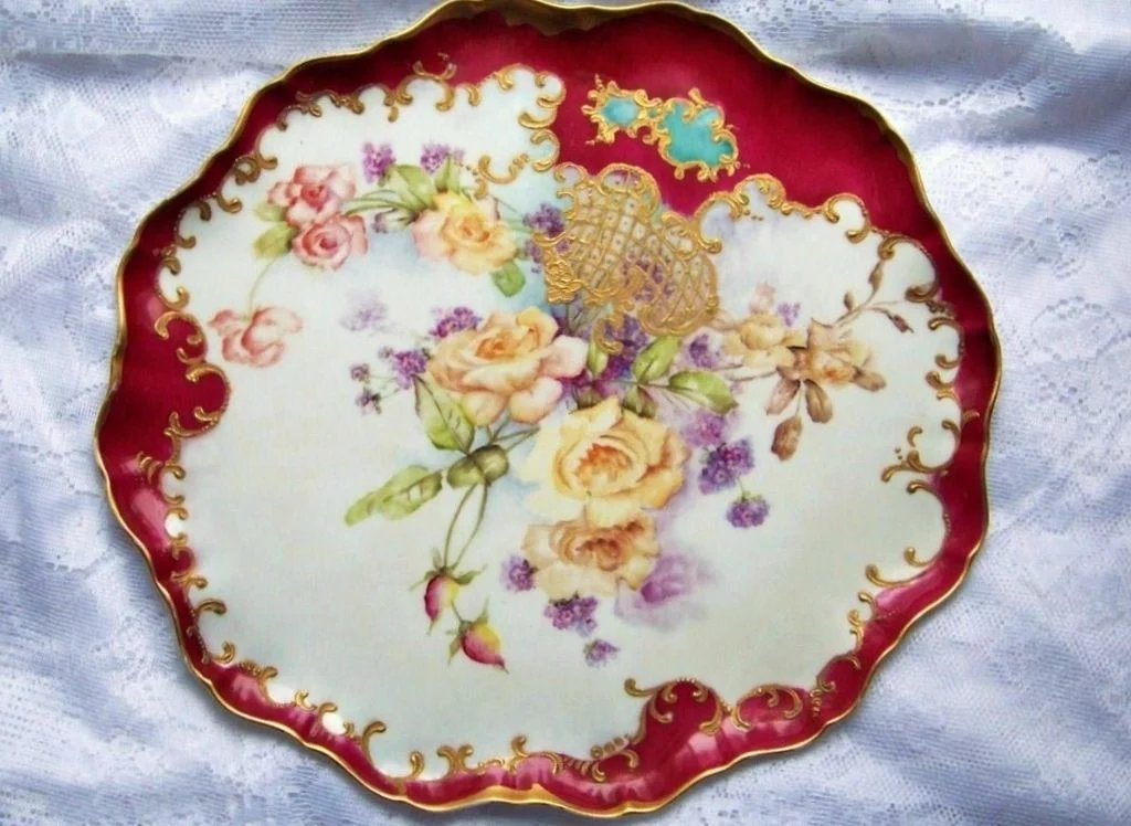 spectacular vibrant j p l france limoges hand painted
