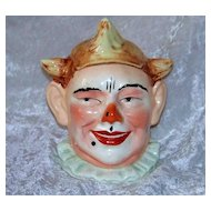 "Fabulous & Scarce 1900's European Hand Painted Figural ""Clown"" Humidor Tobacco Jar"