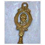 "English Vintage 1900's Brass ""Sir Walter Scott"" 19-1/2"" Toasting Fork"