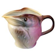 "Royal Bayreuth 1900's Hand Painted ""Pelican"" 3-7/8"" Figural Creamer"