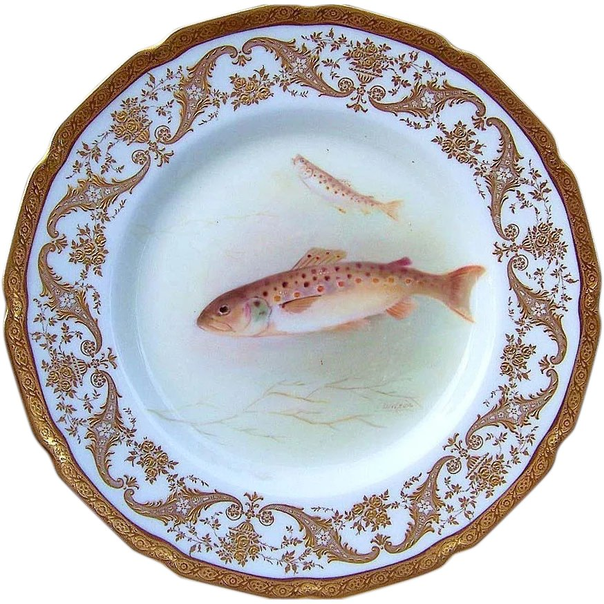 Royal Doulton Early 1900 S Hand Painted Quot Trout Quot 9 Quot Fish
