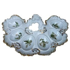 """Scarce RS Prussia [ES] 1900's Six Well Fancy Scallop 9"""" Egg Holder"""