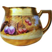 "Beautiful Pickard Studio of Chicago 1912 Hand Painted ""Deserted Garden"" 6"" Fruit Cider Pitcher by Listed Artist, ""Max Klipphahn"""