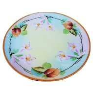 "Exquisite Thomas Sevres Bavaria & Pitkin & Brooks Studio of Chicago 1900's Hand Painted ""Pink Easter Lily"" 8-5/8"" Floral Plate"