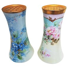 """Beautiful O.E. & G Royal Austria 1900's Hand Painted """"Forget Me Not"""" Floral Sugar Shaker by Pickard Artist, """"Carl Koenig"""""""