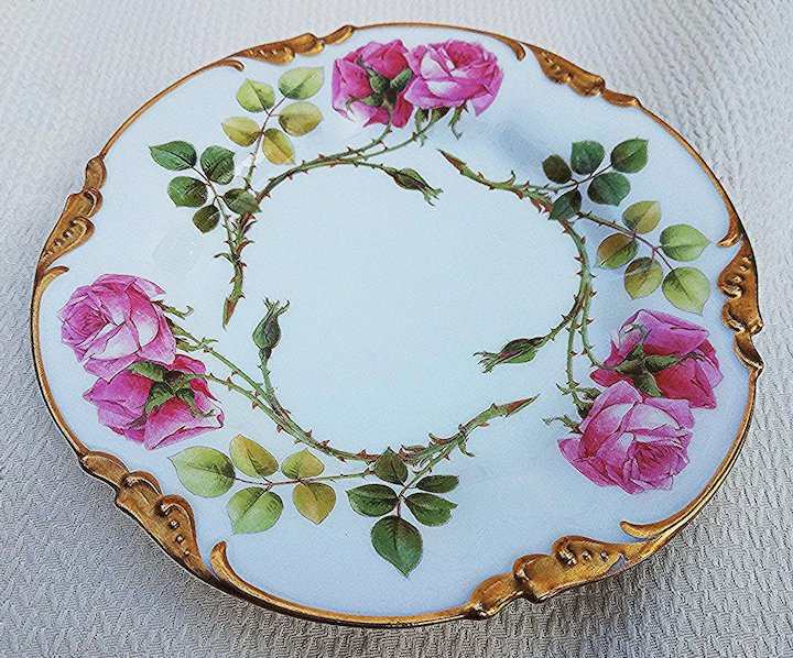 Beautiful J.P.L France Limoges 1900s Hand Painted Red