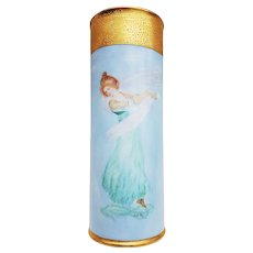 """Gorgeous William Guerin Limoges France 1900's Hand Painted """"Portrait of A Lady Dancing"""" Scenic Vase by the Artist, """"G.A. Woi"""""""