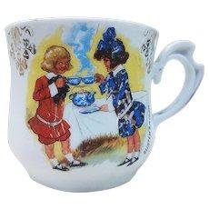 "German Vintage 1900's ""Buster Brown & Sister Mary Jane"" Scenic Shaving Mug"