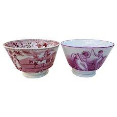 Beautiful Vintage 1900 Circa English Scenic Cups