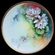 "Beautiful Thomas Sevres Bavaria 1900's Hand Painted ""White Peony"" 10-3/4"" Floral Plate"