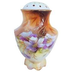 "Beautiful RS Prussia Vintage 1900's ""Iris"" 4-1/4"" Floral Sugar Shaker"