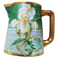 "Stunning Limoges France & Pickard Studio of Chicago 1910 ""Lily"" Floral Milk Pitcher by Artist, ""Frederick Walters"""
