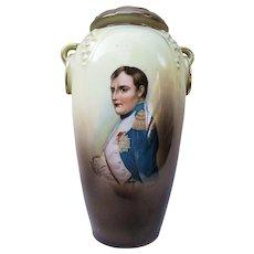 """Outstanding Vintage RS Suhl 1900 """"Napoleon Bonaparte""""   7-1/4"""" Portrait Vase"""