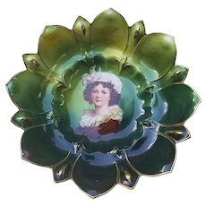 "Wonderful RS Prussia Vintage 1900 ""Madame Louise Élisabeth Vigée Le Brun"" 9-3/4"" Sawtooth Portrait Bowl"