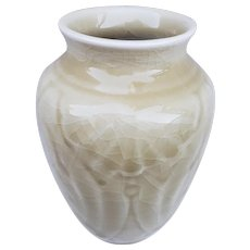 "Beautiful Vintage Rookwood 1945 XLV Light Cream Brown 5-1/4"" Shape # 6510 Vase"