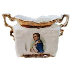 "Wonderful Vintage ES Germany 1900 ""Napoleon"" Portrait Toothpick Holder"