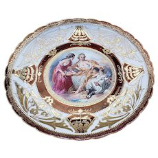 """Exquisite Vintage RS Prussia [OS} """"Venus In a Pastoral Scene"""" 11-3/4"""" Scenic Charger by """"Francois Boucher"""""""