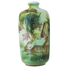 "Stunning RS Prussia 1900 ""Church"" 3-1/2"" Scenic Sample Vase"