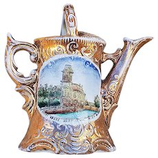 "Wonderful Vintage OS Germany [RS Prussia] ""Guest House Harbourville, MI"" Scenic Watering Can"