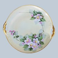 "Gorgeous Vintage Bavaria 1900's Hand Painted ""Apple Blossoms"" 9-1/2"" Floral Plate by Professional Decorator, ""Walter Wilson"""