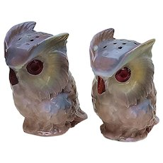"Just Outstanding Scarce Royal Bayreuth 1900 ""Owl"" Figural Hatpin Holder"