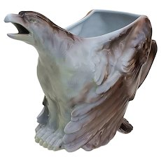 "Grand & Stunning Royal Bayreuth 1900's ""Eagle"" 6-3/8"" Figural Water Pitcher"