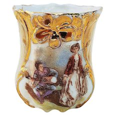 """Beautiful & Ornate RS Prussia[OS] 1900's """"Courting Couple"""" Scenic Toothpick Holder"""