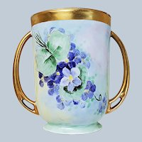 "Attractive Vintage RC Royal Bavaria 1900's Hand Painted ""Violets"" 5-3/8"" Floral Spooner"