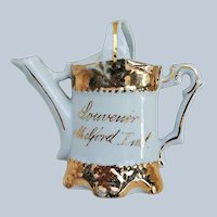 """Charming RS Prussia [OS] 1900 Hand Painted """"Milford, Ind."""" Souvenir Sprinkler Can"""