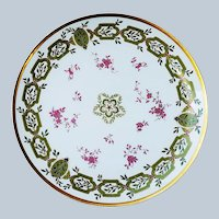 "Wonderful ""Holly & Berry"" Vintage Haviland & Co. Limoges France 1900 Hand Painted 8-3/4"" Christmas Floral Plate"