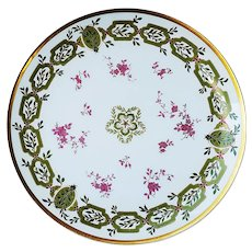 """Wonderful """"Holly & Berry"""" Vintage Haviland & Co. Limoges France 1900 Hand Painted 8-3/4"""" Christmas Floral Plate"""